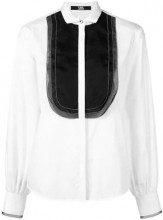 - Karl Lagerfeld - Organza Plastron poplin shirt - women - seta/cotone - 44, 46, 38, 40, 42 - di colore bianco