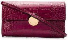 - L'Autre Chose - crocodile print mini clutch - women - pelle di vitello - Taglia Unica - di colore viola