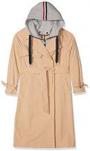 Tommy Jeans Donna TRENCH COAT Giubbotto Maniche lunghe Impermeabile Beige (Ginger Root 685) Small