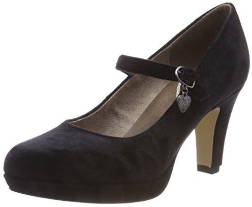 Nero black Tacco S Eu 1 24410 oliver Scarpe Con 41 Donna 31 qw4BxTwf
