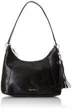Tamaris Melanie Hobo Bag - Borse a spalla Donna, Schwarz (Black), 12x28x32 cm (B x H T)