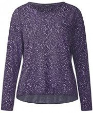 Cecil NOS Melia, T-Shirt Donna, Violett (Dark Purple 31085), Small