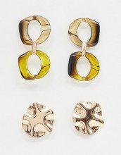 Set di orecchini a bottone e in resina