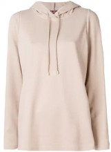 - Max Mara Studio - hooded sweater - women - cotone/fibra sintetica - M - color carne