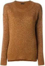 - Etro - Maglione 'Temba' - women - fibra metallica/cashmere/cotone/fibra sinteticalanafibra sintetica - 44, 40 - color marrone