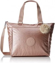 Kipling New Shopper L - Borse Tote Donna, Oro (Metallic Blush), 17.5x48.5x34 cm (B x H T)