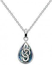 Heritage Paua motivo celtico, argento Sterling, a forma di goccia, lunghezza 45,7 cm