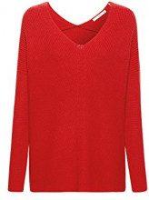 edc by Esprit 088cc1i017, Felpa Donna, Rosso (Red 4 633), Small