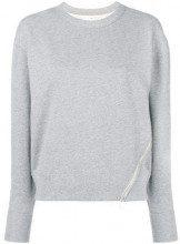- Rag & Bone - Felpa con dettaglio zip - women - cotone - M, L, S - di colore grigio