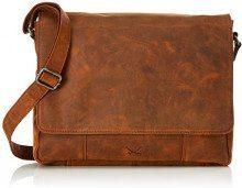 Sansibar Messenger Bag - Borse a tracolla Unisex Adulto, Braun (Dark Brown), 8x31x38 cm (B x H T)