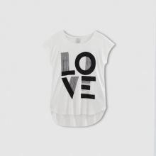 T-shirt fantasia LOVE, maniche corte