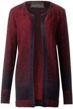 Cecil 252580, Cardigan Donna, Rosso (Cranberry Red 21088), Small