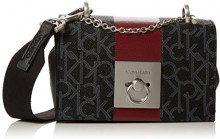 Calvin Klein Jeans Mono Block Small Flap Crossbody - Borse a tracolla Donna, Nero (Black Mono/Black), 8x12x17 cm (B x H T)
