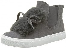 Buffalo Shoes 328145r Imi Suede, Scarpe da Ginnastica Alte Donna, Grigio (Grey 01), 37 EU