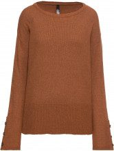 Pullover con bottoni in simil corno