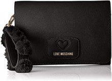Love Moschino Borsa Pu+poliestere - Borse a secchiello Donna, Nero, 10x13x17 cm (B x H T)