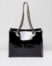 Maxi borsa nero patent