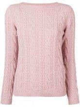 - Max Mara - Maglione a trecce - women - lana vergine/cashmere - L - di colore rosa