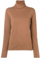 - Hemisphere - cashmere turtleneck sweater - women - cashmere - 36 - color marrone