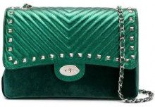 - Marc Ellis - Bryannal foldover shoulder bag - women - pelle/velluto - Taglia Unica - di colore verde
