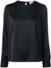 - Twin - Set - Blusa decorata con cristalli - women - fibra sintetica - 38, 40, 42, 46 - di colore nero