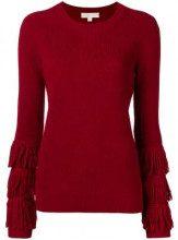 - Michael Michael Kors - Felpa con frange - women - cashmere/lana/fibra sintetica - M, L, XS, XL, S - di colore rosso