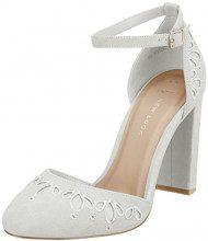 New Look Wide Foot Shottle, Scarpe col Tacco Punta Chiusa Donna, White (White 10), 40 EU
