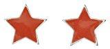 Pilgrim Jewelry dreambase-orecchini della Serie Energetic argentato Arancione 1,0 cm 251316313