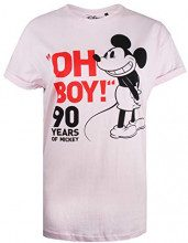 Disney Mickey Mouse-Oh Boy, T-Shirt Donna, Rosa (Light Pink Ltpk), 46 (Taglia Produttore: Large)
