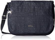 Kipling Earthbeat M - Borse a tracolla Donna, Black (Basket Shimmer), 30x22.5x10.5 cm (W x H x L)