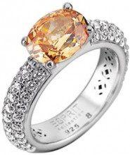 ESPRIT summer Damen-anello amorbess ELRG91652E1, Argento, 58 (18.5), colore: arancione, cod. ELRG91652E180