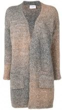 - Snobby Sheep - long open faded cardigan - women - fibra sintetica/alpaca - 42 - di colore grigio