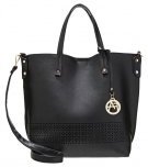 Shopping bag - black/grey