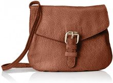 PIECES Pcabby Leather Party Bag Noos - Borse a tracolla Donna, Braun (Nature), 1x16x18 cm (B x H T)