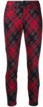 - Cambio - Pantaloni crop tartan - women - fibra sintetica/cotone/lana/fibra sinteticafibra sintetica - 42 - di colore rosso