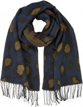 PIECES Pcjuma Animal Long Scarf, Sciarpa Donna, Multicolore (Navy Blazer), Taglia unica