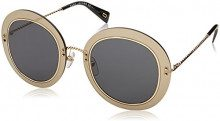 Marc Jacobs 262/S IR 2M2 51, Occhiali da Sole Donna, Nero (Black Gold/GY Grey)