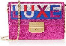 Guess Saint Tropez, Borsa a Tracolla Donna, Multicolore (Pink Multi/Pmu), 19x13x5 cm (W x H x L)