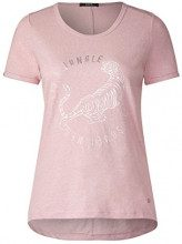 Cecil 312006, T-Shirt Donna, Rosa (Blossom Melange 31285), XL