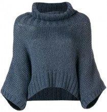 - Fabiana Filippi - Maglione modello cappa - women - fibra sintetica/lana merino - 44 - di colore grigio