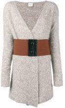 - Alysi - Cardigan con cintura - women - lana/fibra sintetica/mohair - L, S, M - di colore grigio