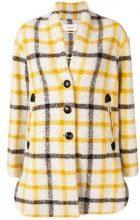 - Isabel Marant Étoile - Cappotto con motivo a quadri - women - cotone/pelle/other fibers/fibra sinteticalana - 36, 38, 40 - di colore giallo