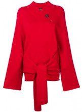 - Joseph - Maglione con nodo frontale - women - lana - L - di colore rosso