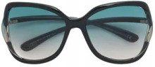 - Tom Ford Eyewear - occhiali da sole 'Anquk 02' - women - acetato - 60 - di colore nero