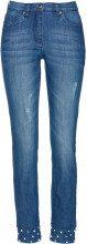 Jeans 7/8 con perle