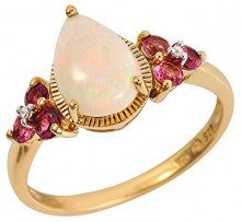 Ivy Gems Donna 925 argento Pera multicolore Opale Tormalina