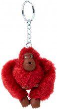 Kipling Monkeyclip S(10) - Portachiavi ad anello e catena Donna, Rosso (Radiant Red), 4x4.5x5 cm (B x H T)