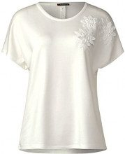 Street One 311921, T-Shirt Donna, Beige (off White 10108), 40