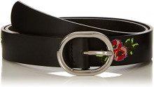 PIECES Pciviaya Leather Jeans Belt, Cintura Donna, Nero (Black Black), 5 (Taglia Produttore: 85)