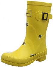 Joules Molly Welly, Stivali di Gomma Donna, Oro (Gold Botanical Bees GLDBOTB), 42 EU